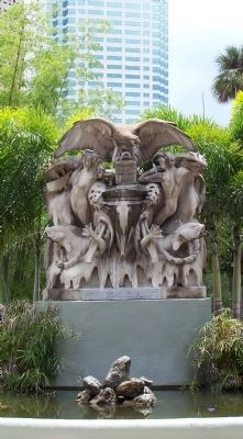 Tampa Bay Hotel, Henry B. Plant Memorial Fountain, opposite main entrance image. Click for full size.