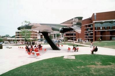 F-4C Phantom II aircraft in the Tuskegee Airmen's Plaza image. Click for full size.