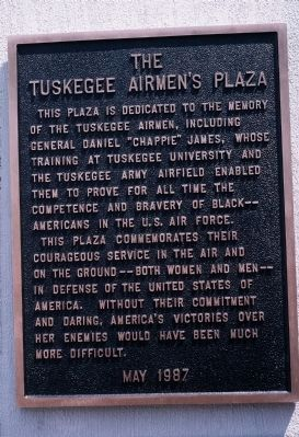 The Tuskegee Airmen's Plaza Marker image. Click for full size.