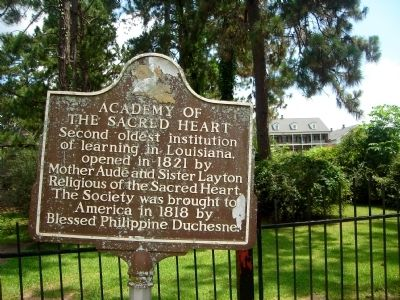 Academy of the Sacred Heart Marker image. Click for full size.