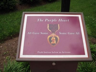 Purple Heart Monument Interactive Exhibit image. Click for full size.