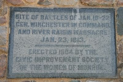 Site of Battles of Jan. 18 - 22 Marker image. Click for full size.