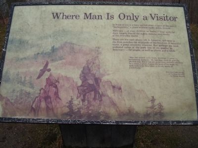 Where Man Is Only a Visitor Marker image. Click for full size.