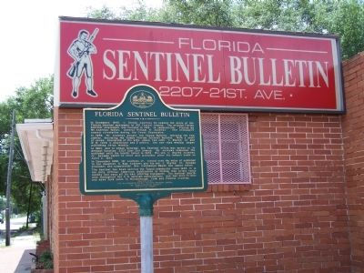 Florida Sentinel Bulletin Marker image. Click for full size.