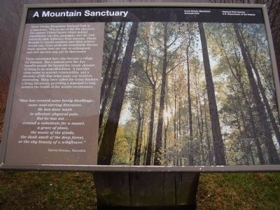 A Mountain Sanctuary Marker image. Click for full size.