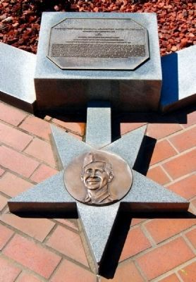 Pickens County Congressional Medal of Honor Memorial -<br>Private First Class William A. McWhorter image. Click for full size.