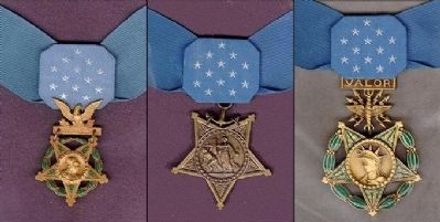 Congressional Medal of Honor -<br>Medal of Honor Ribbon and<br>Army, Navy, and Air Force Medals image. Click for full size.