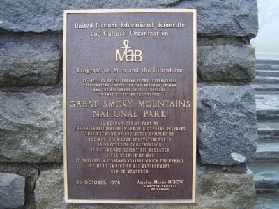 Great Smoky Mountains National Park Marker image. Click for full size.