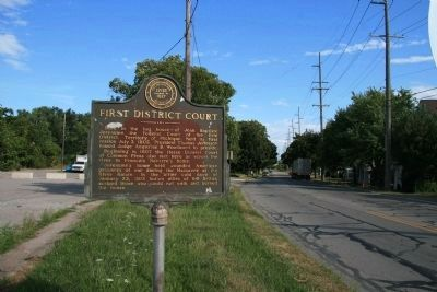 First District Court Marker image. Click for full size.