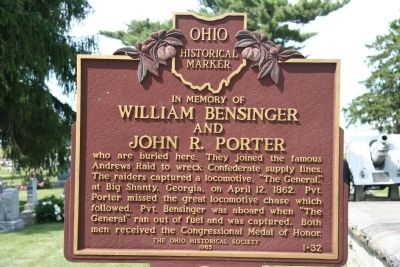 William Bensinger and John R. Porter Marker image. Click for full size.