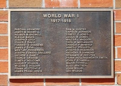 To the Valiant Citizen-Soldiers of Pickens County Memorial -<br>World War I Plaque image. Click for full size.