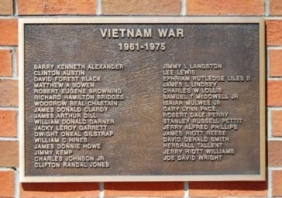 To the Valiant Citizen-Soldiers of Pickens County Memorial -<br>Vietnam War Plaque image. Click for full size.