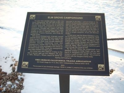 Elm Grove Campground Marker image. Click for full size.