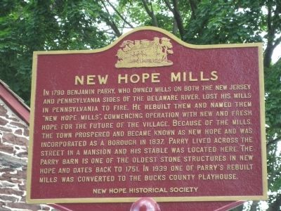 New Hope Mills Marker image. Click for full size.