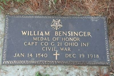 William Bensinger Gravestone image. Click for full size.