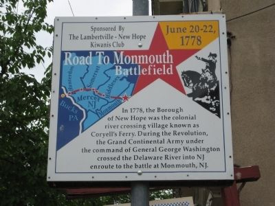 Road to Monmouth Battlefield Marker image. Click for full size.