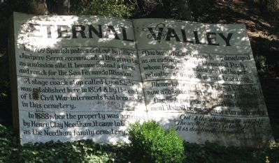 Eternal Valley Marker image. Click for full size.