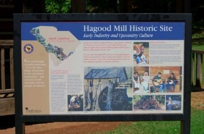Hagood Mill Historic Site Marker - Front image. Click for full size.