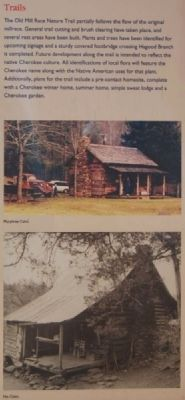 Hagood Mill Historic Site Marker -<br>Trails image. Click for full size.