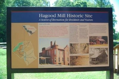 Hagood Mill Historic Site Marker -Reverse image. Click for full size.