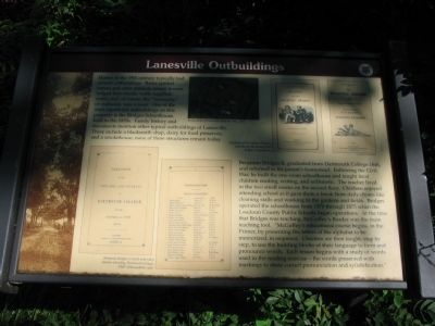 Lanesville Outbuildings Marker image. Click for full size.