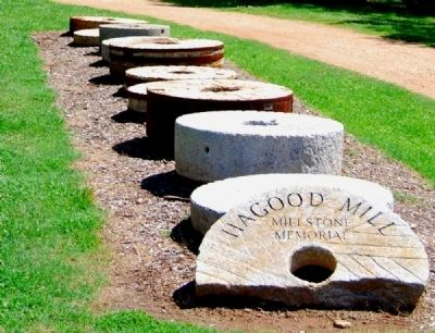 Hagood Mill Historic Site -<br>Millstone Memorial image. Click for full size.