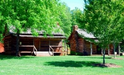 1850 Hagood Family Cabin (Left) and <br>1791 Murphree-Hollingsworth Log Cabin (Right) image. Click for full size.