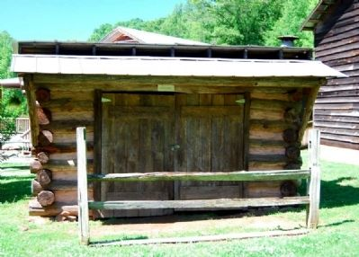 Hagood Mill Historic Site -<br>Old Bear Forge image. Click for full size.