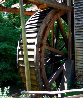 Hagood Mill - Water Wheel image. Click for full size.