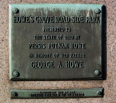 Howe's Grove Road Side Park Marker image. Click for full size.