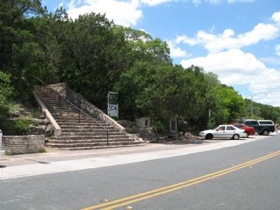 Stairs ascending Mount Bonnell image. Click for full size.
