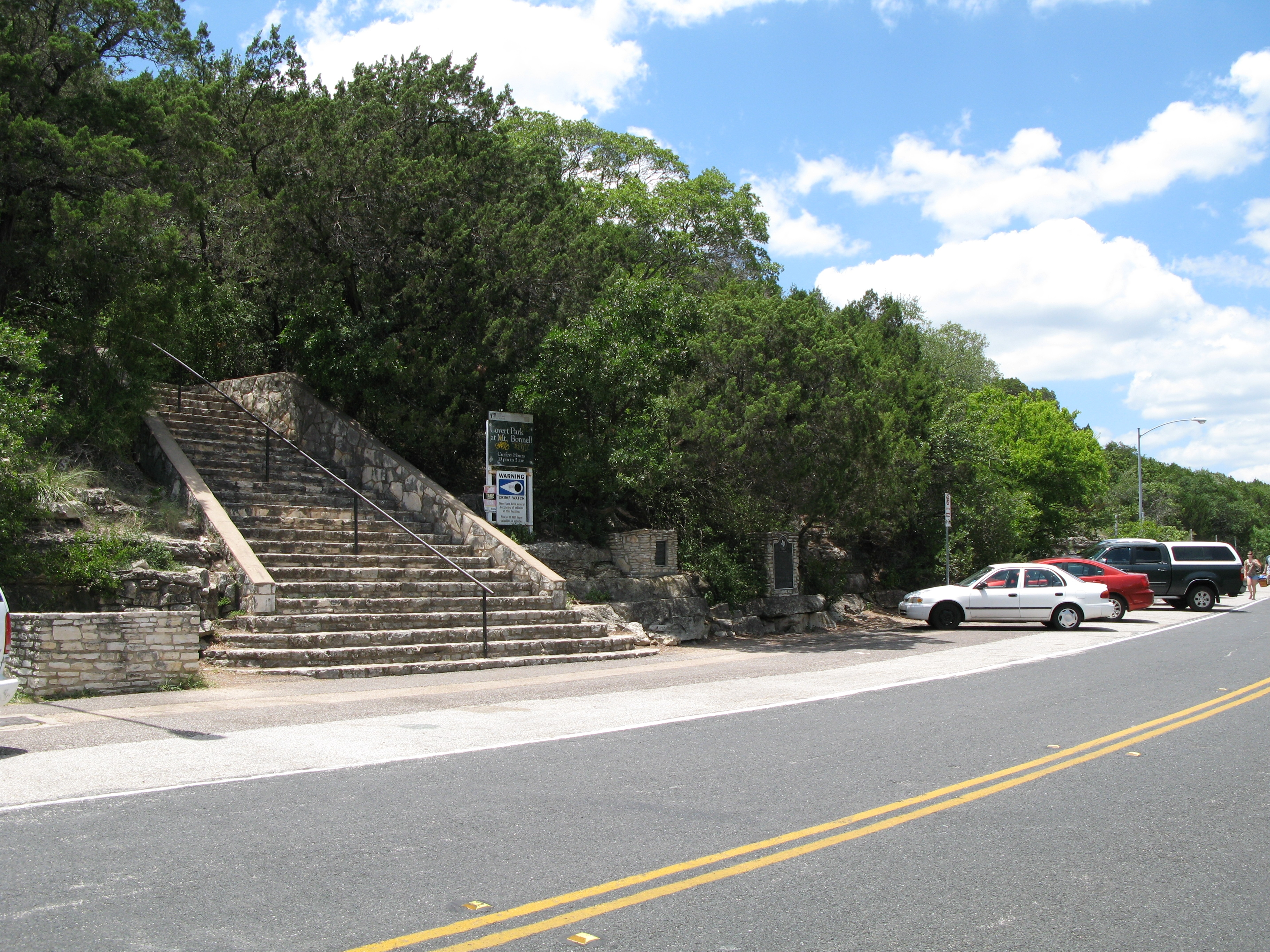 Stairs ascending Mount Bonnell
