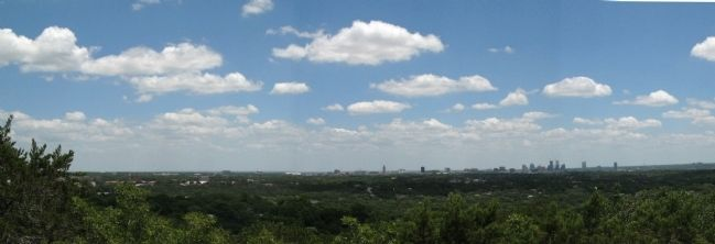 Panoramic view of Austin looking east off Mount Bonnell image. Click for full size.
