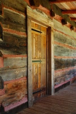 The Hagood Cabin South Door image. Click for full size.