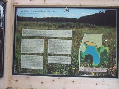 Ice Age National Scenic Trail Signage - detail image. Click for full size.