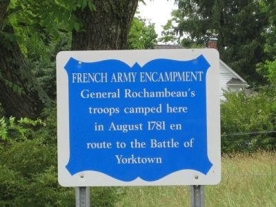 French Army Encampment Marker image. Click for full size.