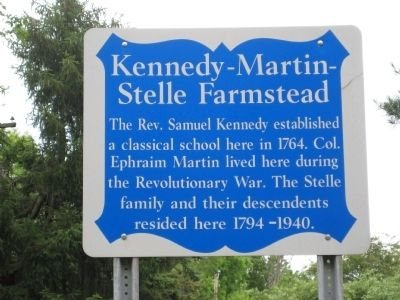 Kennedy-Martin-Stelle Farmstead Marker image. Click for full size.