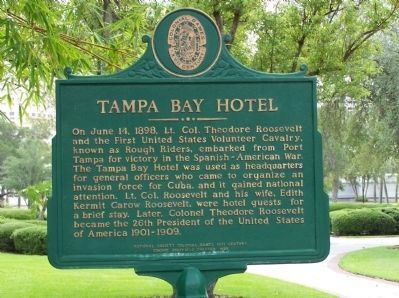 Tampa Bay Hotel Marker image. Click for full size.