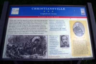 Christiansville CWT Marker image. Click for full size.