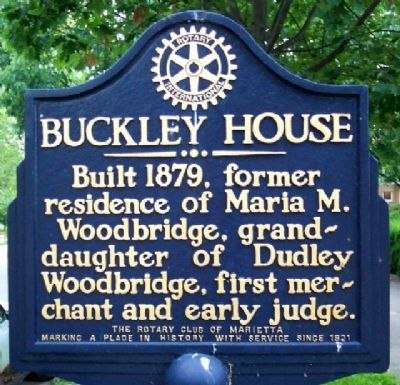 Buckley House Marker image. Click for full size.