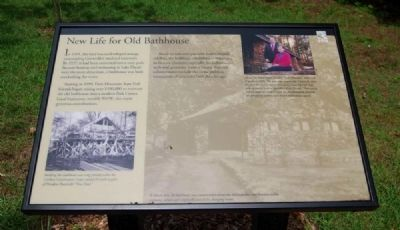 New Life for Old Bathhouse Marker image. Click for full size.
