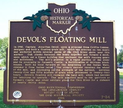Devol's Floating Mill Marker image. Click for full size.
