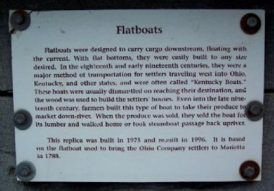 Flatboats Marker image. Click for full size.