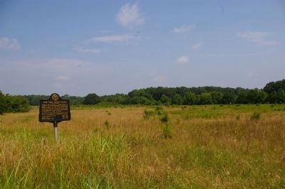 The Old Loyd Place Marker and some of the donated land image. Click for full size.