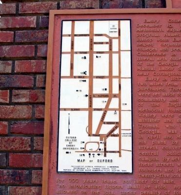 Closeup of Map on Town of Oxford and Emory College Marker image. Click for full size.