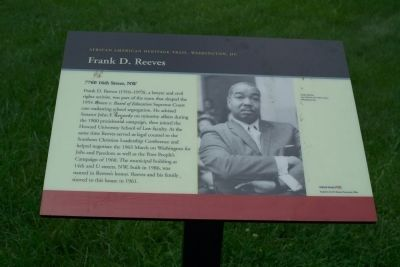 Frank D. Reeves Marker image. Click for full size.