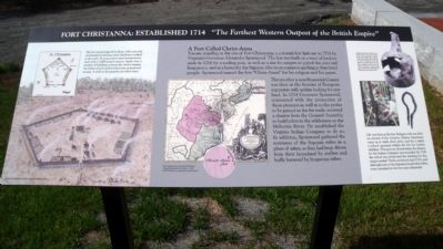 Fort Christanna: Established 1714 Marker image. Click for full size.