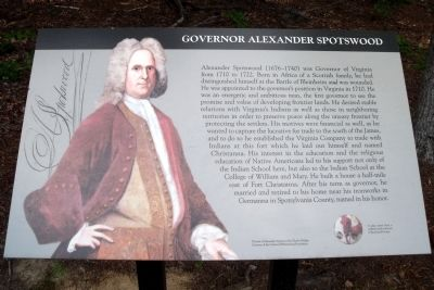 Governor Alexander Spotswood Marker image. Click for full size.