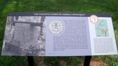 The Colonial Dames of America Monument Marker image. Click for full size.