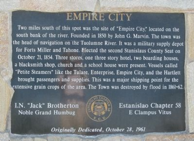 Empire City Marker image. Click for full size.